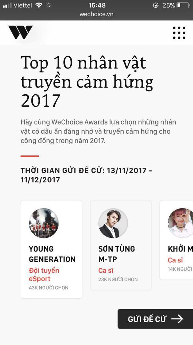 WeChoice Awards 2017 - Người đánh thức cảm hứng trong bạn là ai? - Ảnh 3.