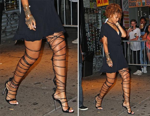 Chẳng khác nào trò cực hình, thế mà Rihanna vẫn cắn răng đi loại giày này liên tục - Ảnh 7.