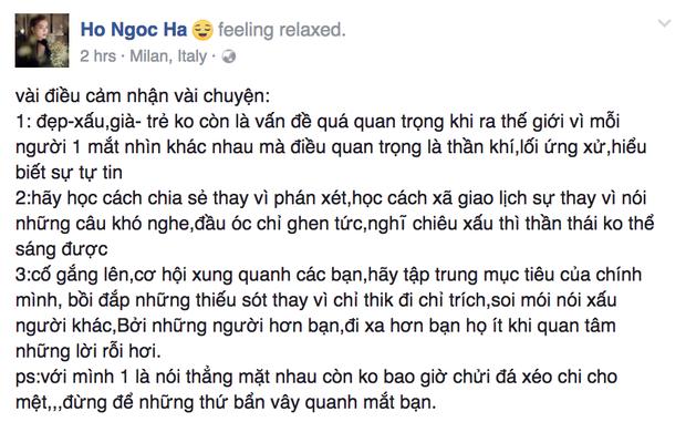 Hà Hồ: Với tôi một là nói thẳng mặt nhau, không bao giờ đá xéo chi cho mệt - Ảnh 1.