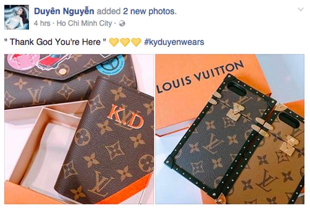 Hoa hậu Kỳ Duyên chi hơn 40 triệu đồng chỉ cho... ốp điện thoại Louis Vuitton - Ảnh 1.