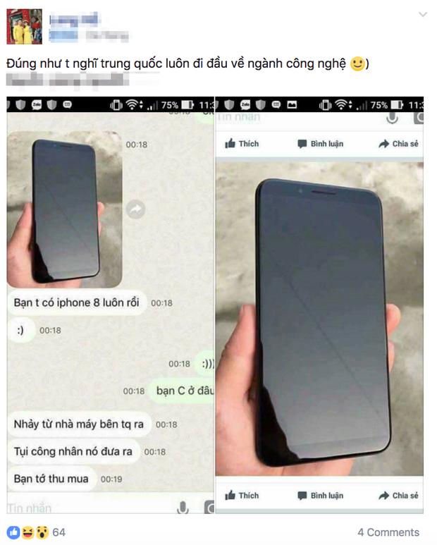Cư dân mạng đang nháo nhào chia sẻ hình ảnh iPhone 8, nhưng hoá ra đó chỉ là điện thoại Trung Quốc - Ảnh 1.