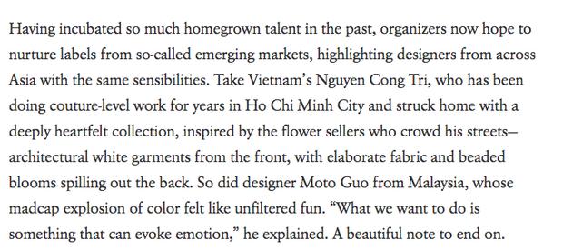 Sau BST đẹp xuất sắc tại Tokyo Fashion Week, Công Trí trở thành NTK Việt đầu tiên được vinh danh trên Vogue Mỹ - Ảnh 2.
