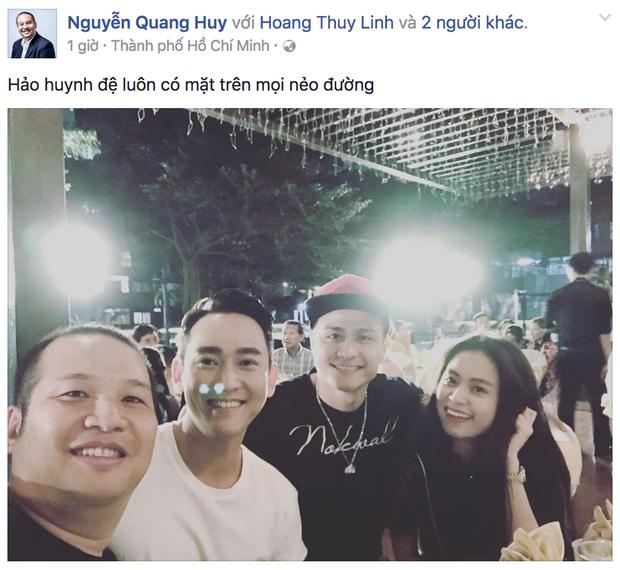 Hoàng Thùy Linh dính như sam bên Vĩnh Thụy khi đi chơi cùng bạn bè - Ảnh 1.