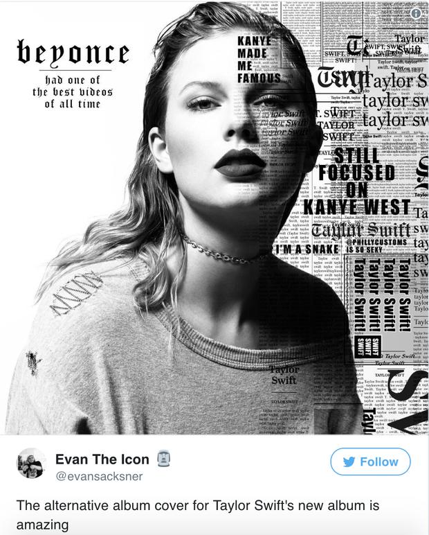 Bìa album mới của Taylor Swift tạo nên cơn sốt ảnh chế Reputation - Ảnh 3.