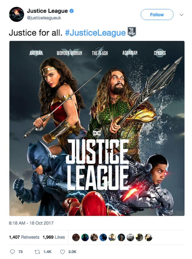 Fan hoang mang khi thấy poster mới xuất hiện của Justice League xấu đau đớn - Ảnh 2.