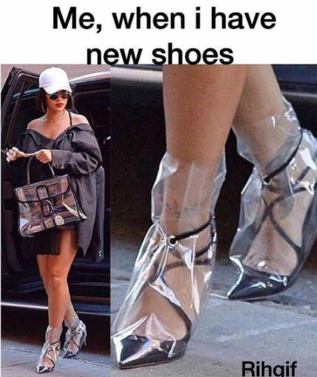 Từ hình ảnh của Rihanna rút ra chân lý: muốn có giày mới, cứ lấy nylon mà bọc vào giày cũ! - Ảnh 3.