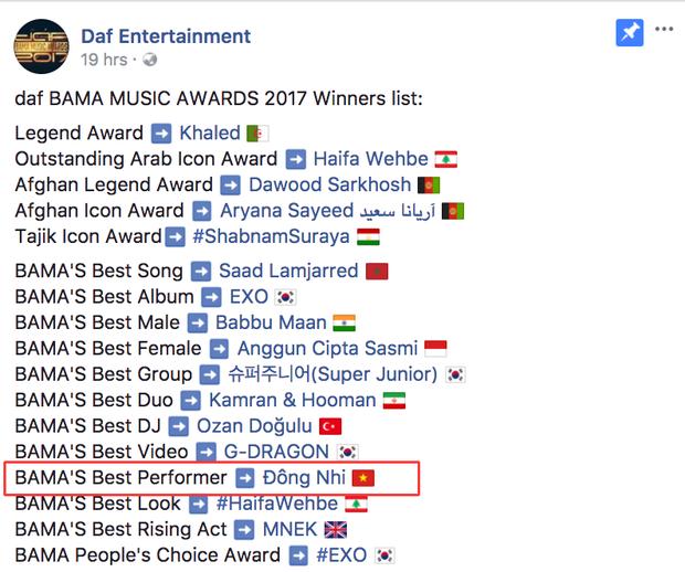 Đông Nhi, Sơn Tùng M-TP cùng được vinh danh tại giải thưởng âm nhạc quốc tế - Ảnh 1.