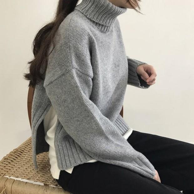 Mặc áo cổ lọ, bạn cứ để tóc như 4 kiểu này thì đảm bảo là đáng yêu hết nấc - Ảnh 4.