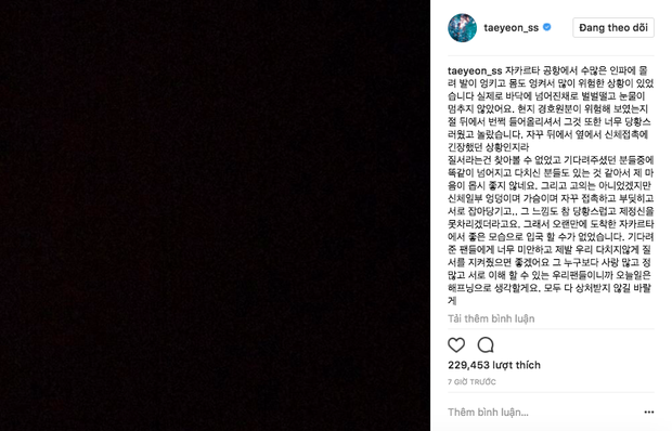 Taeyeon viết tâm thư sau sự cố ngã quỵ: Tôi không thể ngừng khóc. Vòng 3 và ngực tôi bị động chạm liên tục - Ảnh 3.