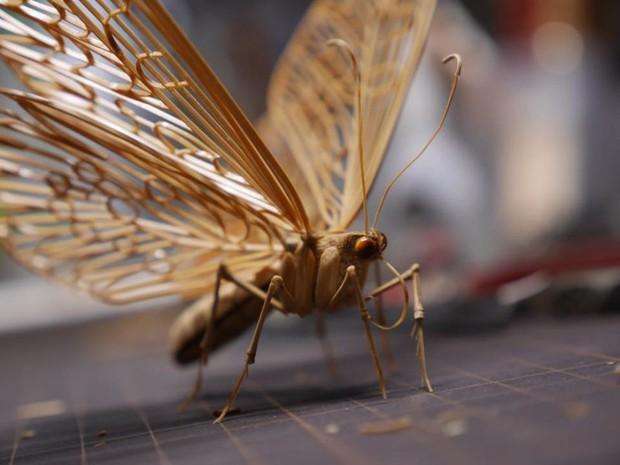 Bộ sưu tập côn trùng tre giống hệt đồ thật của nghệ nhân Nhật Bản - Ảnh 15.