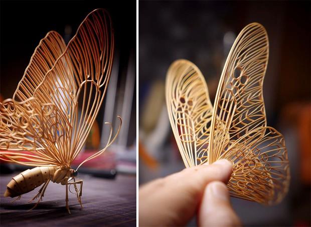 Bộ sưu tập côn trùng tre giống hệt đồ thật của nghệ nhân Nhật Bản - Ảnh 13.