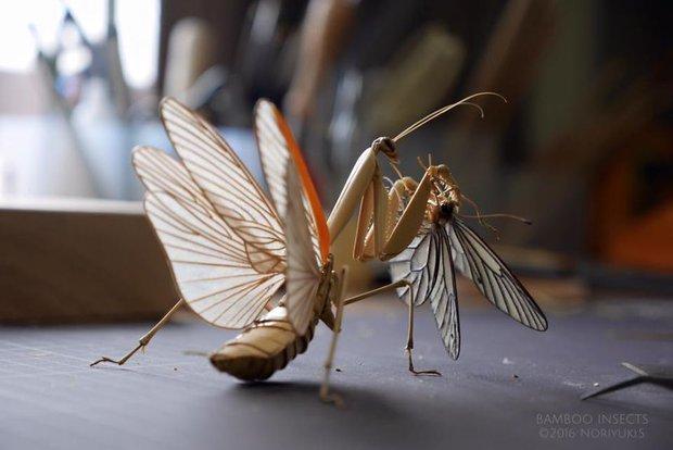 Bộ sưu tập côn trùng tre giống hệt đồ thật của nghệ nhân Nhật Bản - Ảnh 5.