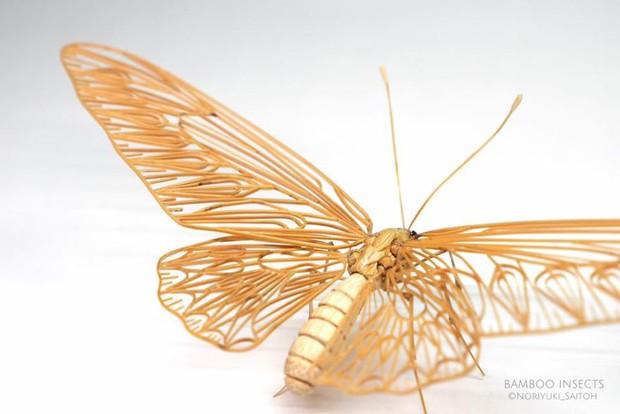Bộ sưu tập côn trùng tre giống hệt đồ thật của nghệ nhân Nhật Bản - Ảnh 9.