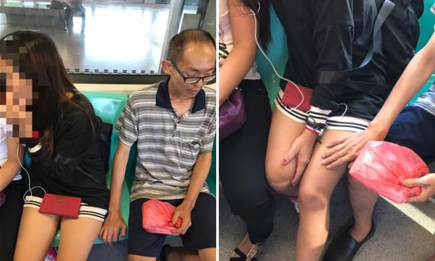Bắt gặp gã đàn ông biến thái rình mò sờ đùi nữ sinh, cô gái trẻ livestream toàn cảnh lên Facebook - Ảnh 2.