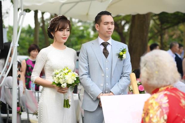 Ngắm những khoảnh khắc hạnh phúc ngọt ngào của Tú Linh và chồng trong đám cưới - Ảnh 8.