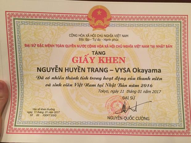 Chân dung 9x xinh đẹp vừa được nhận bằng khen của ĐSQ Việt Nam tại Nhật - Ảnh 4.