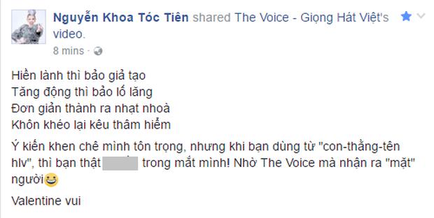 Tóc Tiên bức xúc, đáp trả lại gạch đá sau khi Giọng hát Việt lên sóng - Ảnh 5.