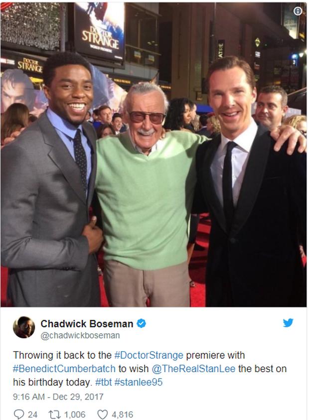 Anh em Avengers nhao nhao chúc mừng thọ bố già Stan Lee tròn 95 tuổi - Ảnh 3.