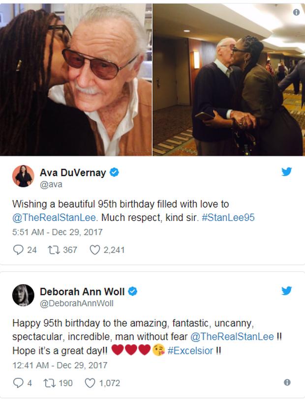 Anh em Avengers nhao nhao chúc mừng thọ bố già Stan Lee tròn 95 tuổi - Ảnh 7.