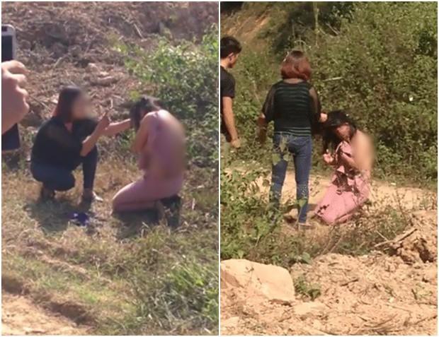 Cặp kè với đàn ông đã có vợ, người phụ nữ bị đánh tơi tả xé áo, bắt quỳ gối xin lỗi giữa đường - Ảnh 2.