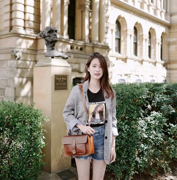 Hot girl diện đồ basic đẹp nhất Thái Lan Pimtha bỗng dưng khiến người ta hết hồn trong bộ váy màu hường lồng lộn - Ảnh 5.
