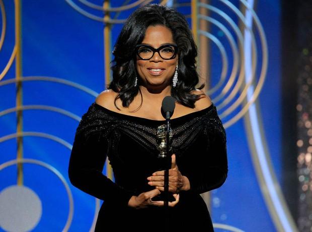 Hàng loạt khán giả phải rơi nước mắt trước bài diễn văn của Oprah Winfrey tại Quả Cầu Vàng 2018 - Ảnh 1.