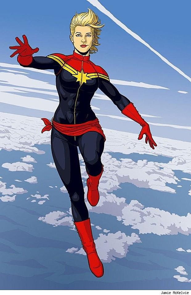 Captain Marvel làm người hâm mộ thất vọng với trang phục siêu anh hùng xấu xí - Ảnh 5.
