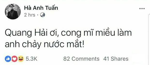 Đến Hà Anh Tuấn cũng phải phát khóc trước bàn thắng cong mĩ miều của Quang Hải - Ảnh 1.