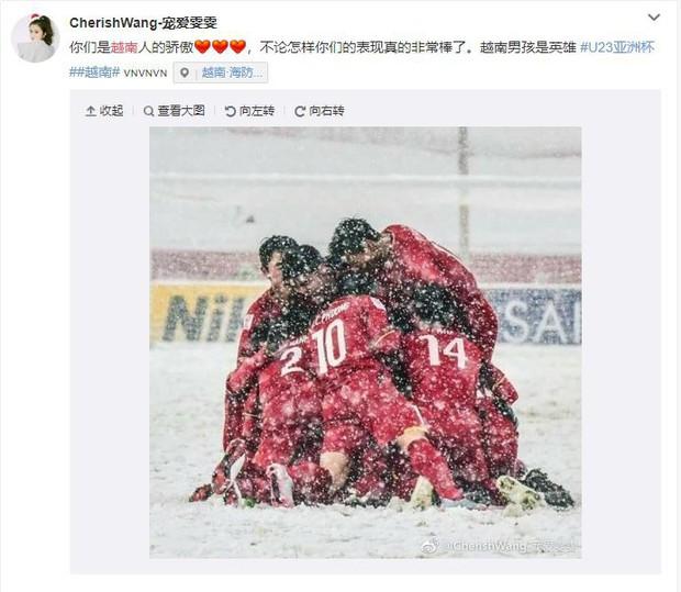 Bức ảnh của U23 Việt Nam giữa tuyết trắng được netizen Trung chia sẻ: Các bạn chính là người hùng của Việt Nam - Ảnh 2.