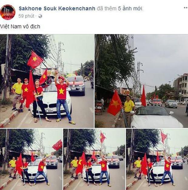 Hội người Việt ở Lào rộn ràng, sẵn sàng bùng cháy hết mình cho trận chung kết lịch sử của U23 Việt Nam - Ảnh 1.