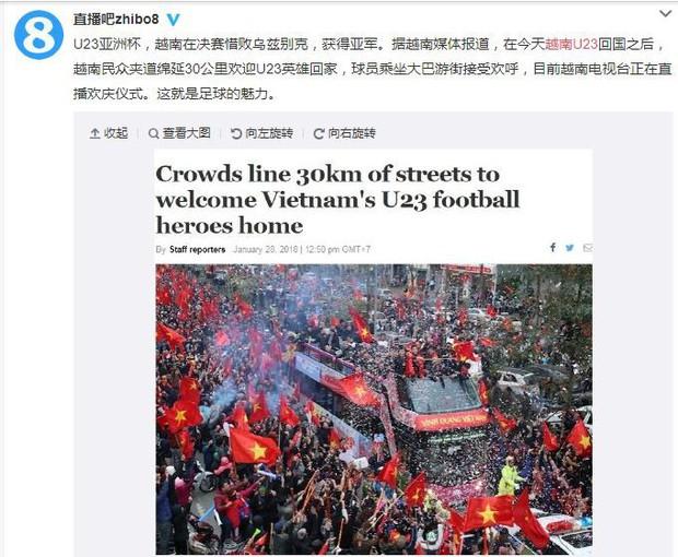 Trung Quốc kinh ngạc vì người hâm mộ Việt Nam quây kín con đường dài 30 km để chào đón đội tuyển U23 trở về - Ảnh 1.