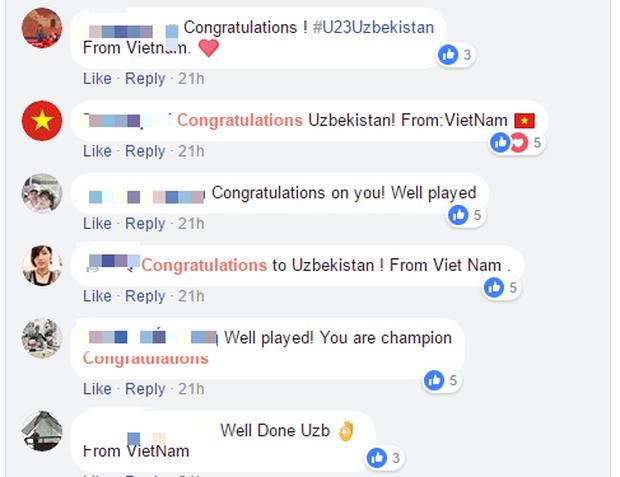 Liên đoàn bóng đá Uzbekistan đưa tin chiến thắng cả ngày chỉ có 67 lượt bình luận, 61 comment là của fan Việt Nam! - Ảnh 2.