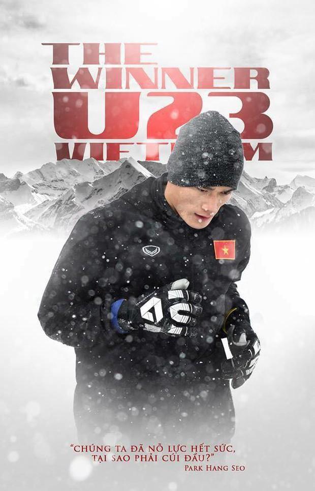 U23 Việt Nam đỏ chói giữa tuyết trắng Thường Châu: Bộ phim sử thi đẹp đến lặng người từ hai sắc màu bi tráng - Ảnh 13.