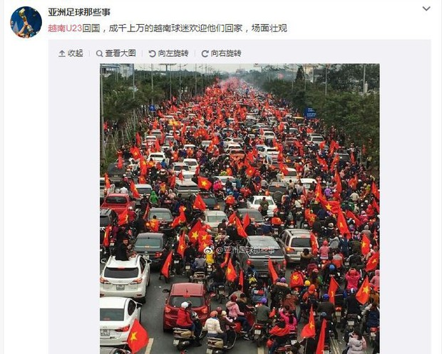 Trung Quốc kinh ngạc vì người hâm mộ Việt Nam quây kín con đường dài 30 km để chào đón đội tuyển U23 trở về - Ảnh 5.