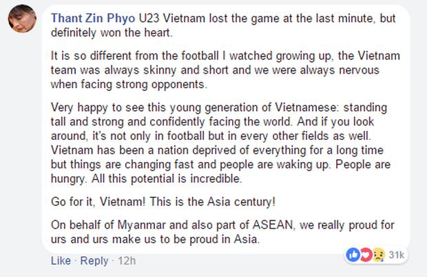Nếu đã khóc cùng U23 Việt Nam, 10 bình luận của CĐV nước ngoài này sẽ khiến bạn thổn thức trong hạnh phúc - Ảnh 7.