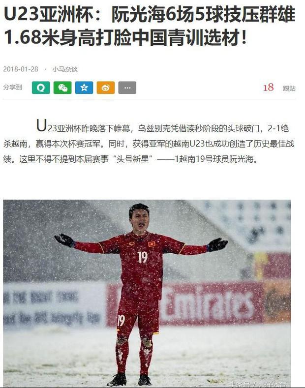 Không phải crush quốc dân Bùi Tiến Dũng, đây mới là người hùng được truyền thông Trung Quốc ngợi khen nhiều nhất - Ảnh 1.