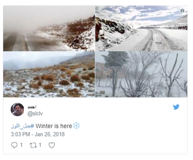 Không chỉ ở Thường Châu mới lạnh, Ả Rập Xê-út vốn nổi tiếng nắng nóng cũng có tuyết rơi rồi - Ảnh 2.