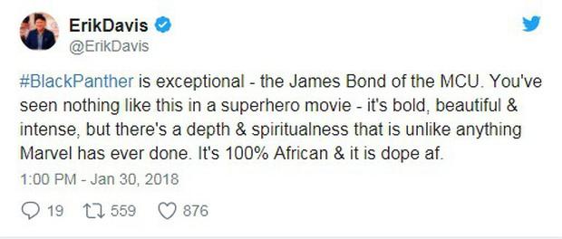Bom tấn Black Panther nhận cơn mưa lời khen từ giới phê bình đến người hâm mộ - Ảnh 3.