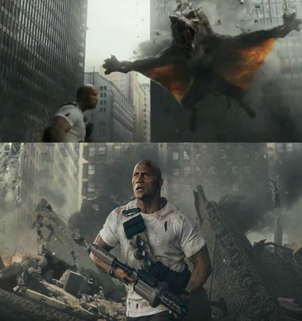 Sói bay khổng lồ khiến The Rock phải sợ hãi trong Siêu Thú Cuồng Nộ - Ảnh 2.