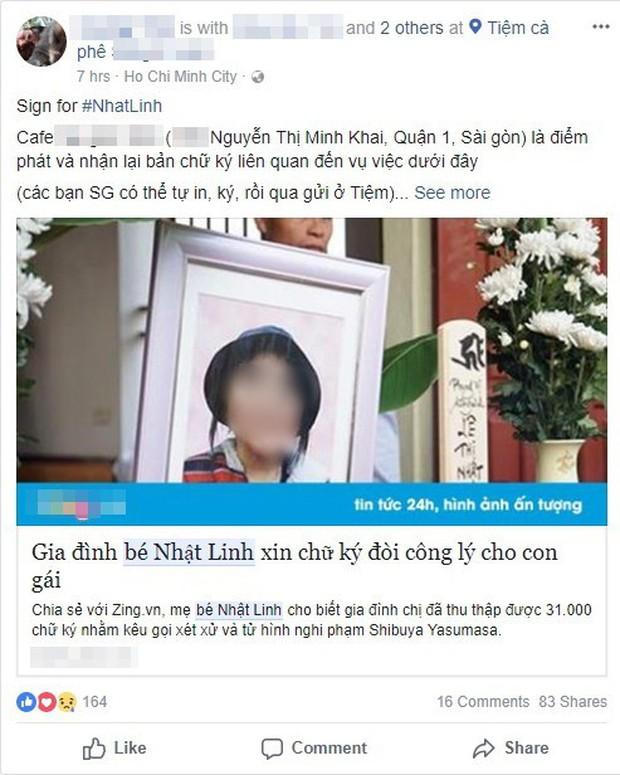 Cộng đồng mạng chung tay ủng hộ chữ ký tìm lại công bằng cho bé Nhật Linh bị sát hại tại Nhật - Ảnh 6.
