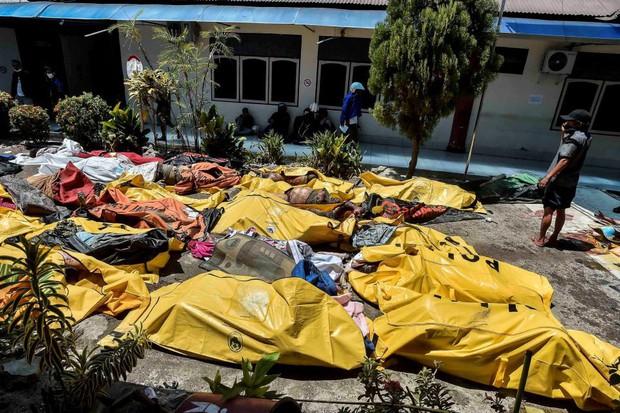 Tang thương người Indonesia nhận dạng, tìm kiếm người thân giữa những thi thể nằm la liệt - Ảnh 1.