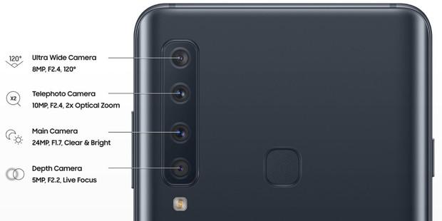 Samsung Galaxy A7 và A9 (2018) chính thức ra mắt: Smartphone nhiều mắt nhất thế giới với 4 camera sau - Ảnh 1.
