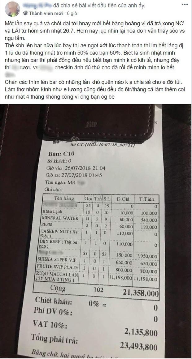 Thanh niên đi làm 4 tháng mới trả hết nợ 1 buổi đi bar vì bạn bè chỉ đến ăn uống check-in rồi về - Ảnh 1.