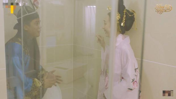 Chán làm chị Mười Ba đánh đấm, Thu Trang nghĩ ra chiêu tắm trắng không ai dám bắt chước trong webdrama cổ trang xuyên không - Ảnh 12.