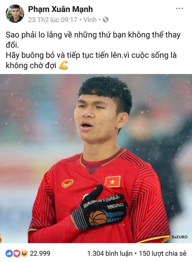 Không còn nghi ngờ gì nữa, Phạm Xuân Mạnh của U23 Việt Nam chính là chàng cầu thủ chỉ cần thở nhẹ là ra cả rổ quote - Ảnh 1.