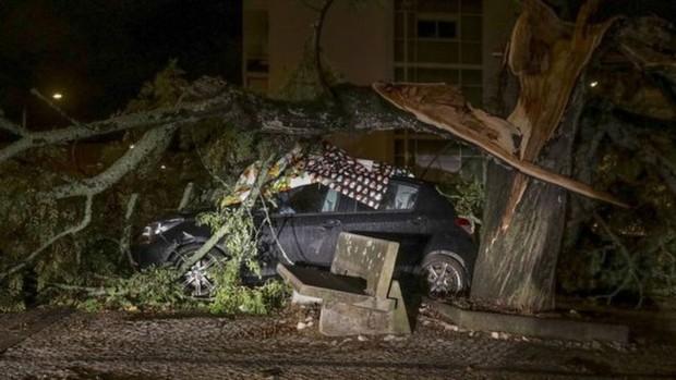 Hàng trăm nghìn người ở Bồ Đào Nha rơi vào cảnh mất điện do bão Leslie  - Ảnh 1.