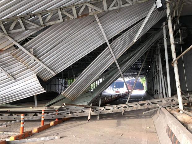 Hầm Sài Gòn: Nguyên nhân vụ sập công trình ở cửa hầm Sài Gòn gây ùn tắc- Ảnh 1.