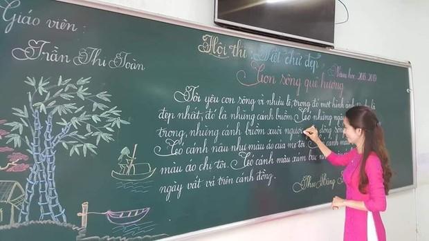 Khi giáo viên tiểu học đi thi viết chữ đẹp: Không máy in hay font chữ xịn sò nào có thể sánh ngang với bàn tay cô giáo! - Ảnh 1.