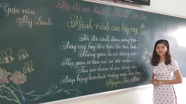 Khi giáo viên tiểu học đi thi viết chữ đẹp: Không máy in hay font chữ xịn sò nào có thể sánh ngang với bàn tay cô giáo! - Ảnh 5.