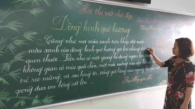 Khi giáo viên tiểu học đi thi viết chữ đẹp: Không máy in hay font chữ xịn sò nào có thể sánh ngang với bàn tay cô giáo! - Ảnh 8.